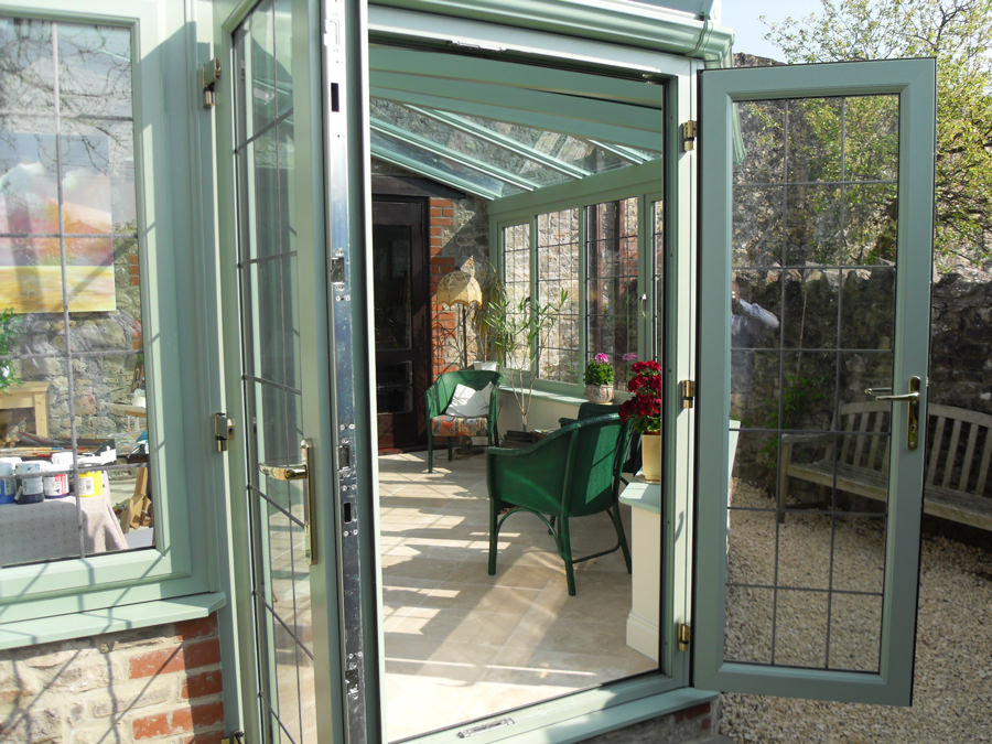 Green Conservatory glass uPVC cambridgeshrie